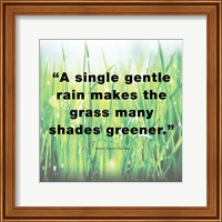 Framed Single Gentle Rain - Henry Thoreau Quote (Light)