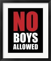 Framed No Boys Allowed - Black