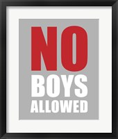 Framed No Boys Allowed - Gray