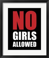 Framed No Girls Allowed - Black