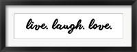 Framed Live Laugh Love -  White
