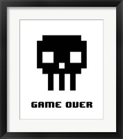 Framed Game Over  - Black Skull