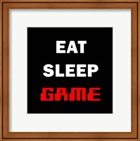 Framed Eat Sleep Game - Black