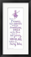 Believe in Fairy Tales Framed Print