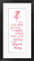 Little Girls Dreams Framed Print