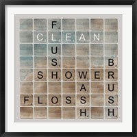 Framed Bathroom Letters II