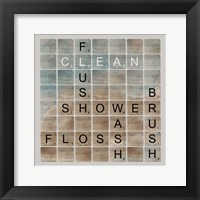 Framed Bathroom Letters II