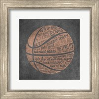 Framed Basketball Terms