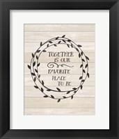 Framed Together is Our