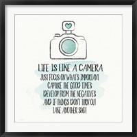 Framed Life is Like a Camera