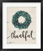 Framed Thankful Wreath