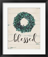 Framed Blessed Wreath