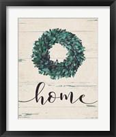 Framed Home Wreath (vertical)