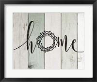 Home Rustic Wreath II Framed Print