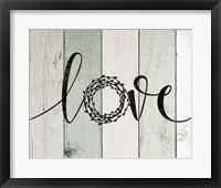 Love Rustic Wreath II Framed Print