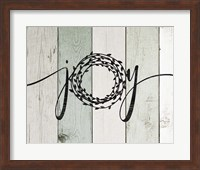 Framed Joy Rustic Wreath II