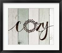 Cozy Rustic Wreath II Framed Print