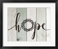 Framed Hope Rustic Wreath II