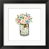Framed Mason Jar Bouquet