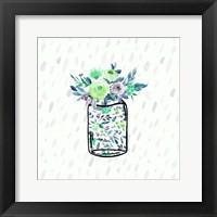 Framed Mason Jar Florals