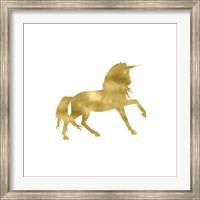 Framed Gold Unicorn Square
