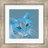 Framed Cat in Blue