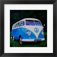 Framed Blue Van