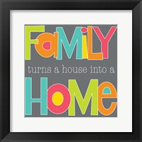 Framed Family Makes a Home