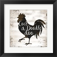 Farmhouse Rooster Framed Print