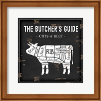 Framed Butcher's Guide Cow