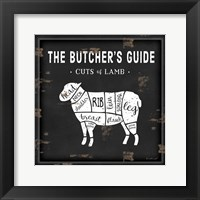 Framed Butcher's Guide Lamb