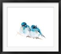 Framed Blue Buds