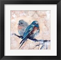 Framed Blue Birds