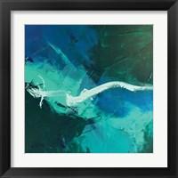 Framed Wispy Waves I
