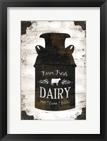 Farmhouse Milk Can Framed Print