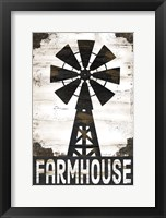 Farmhouse Windmill Framed Print