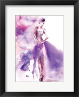 Purple Ballerina I Framed Print
