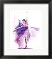 Framed Purple Ballerina