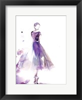 Purple Ballerina III Framed Print
