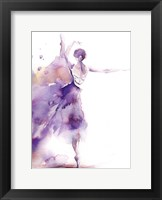 Framed Purple Ballerina II