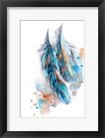 Framed Blue Feather