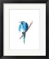 Framed Blue Bird III