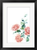 Framed Peachy Petals