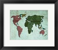 Framed Map I