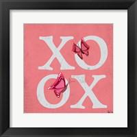 Framed XOXO Butterflies