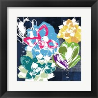 Framed Colorful Succulents II