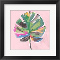 Framed Painted Palm on Pink