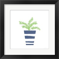 Framed Striped Pot I
