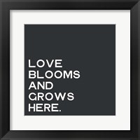 Framed Love Blooms and Grows