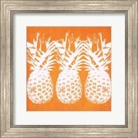 Framed Orange Pineapples